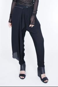 Isabel Benenato Silk Trousers With Detachable Panel