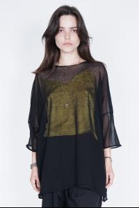 Isabel Benenato Loose Fit Sheer T-shirt