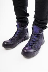 NIHOMANO Buoyantly Transformer Reverse Horse Leather High-top Sneakers