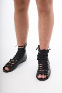 NostraSantissima  SCARU5 high laced sandals in bla