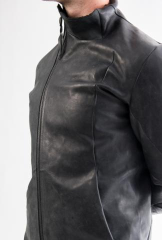 Leon Emanuel Blanck distortion horse leather jacket with lining