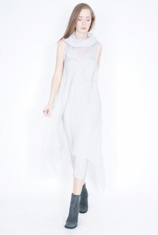 Un-Namable Sheer Cowl Neck Long Dress