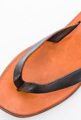 Dimissianos & MIller Rubber Wedge Leather Flip Flops