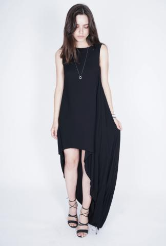Nostrasantissima Asymmetric Raw Edge Dress