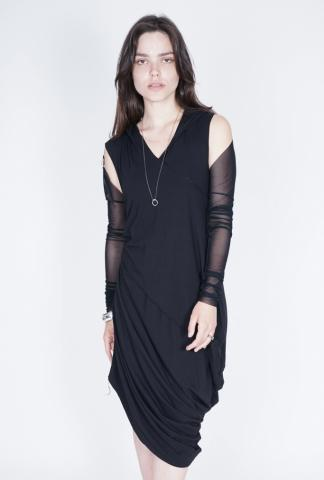 Nostrasantissima DD27 medium hooded draped dress