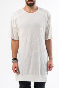 HAMCUS white on white embroidered long t-shirt