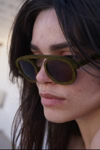 MA+ one piece rim sunglasses