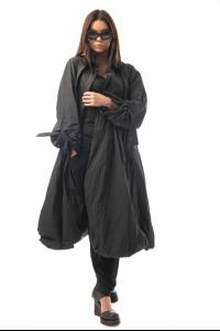Alessandra Marchi Oversized Belted Raincoat with Back Vent