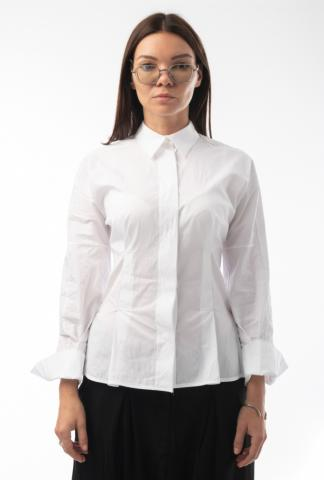 Alexandra Marchi  back-pleated shirt