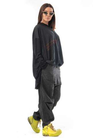 Barbara Bologna Oversized Printed Hoodie