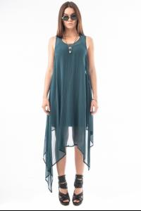 Ivan Grundahl Adjustable Button Asymmetric Draped Dress