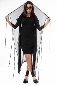 Ivan Grundahl Sheer Silk Elongated Short Sleeve Kimono