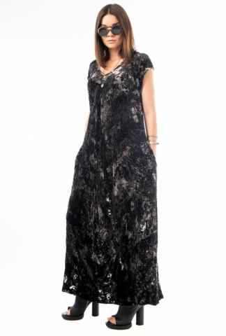 Ivan Grundahl Deconstructed Velvet Dress