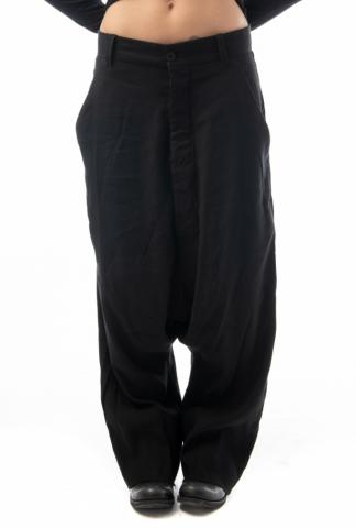 Pal Offner Loose Low-crotch Trousers