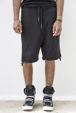 11byBBS P6 Black piece dyed shorts