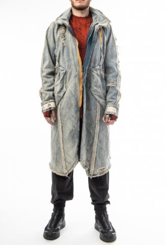 HAMCUS Distressed Denim Parka