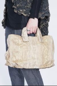 Simona Tagliaferri A302 Anima Metal Embedded Leather Bag