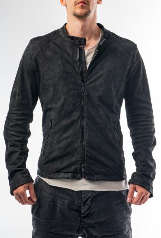 Giorgio Brato Laser Cut Lamb Leather Racer Jacket