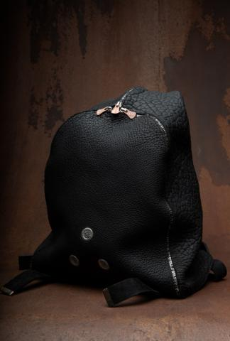 Ierib Rough Bull One Piece Leather Backpack