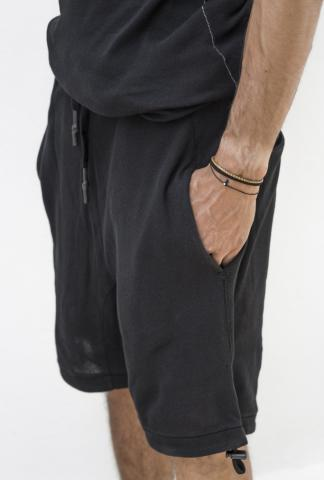 11 By BBS Black piece dyed shorts
