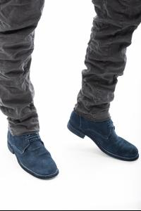 GUIDI 994 Desert Boots in Cangaroo reversed Blue-gray Lined