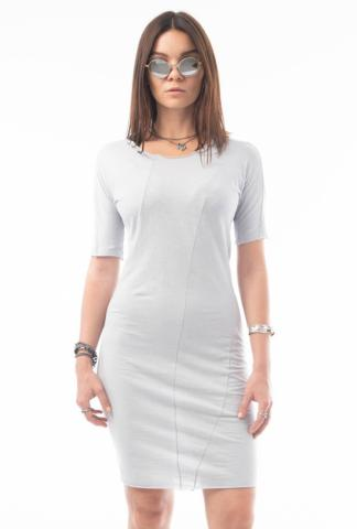 Leon Emanuel Blanck DIS-WSD-01 Anfractuous Distortion Short Sleeve Dress