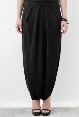 Isabel Benenato Knit long skirt black