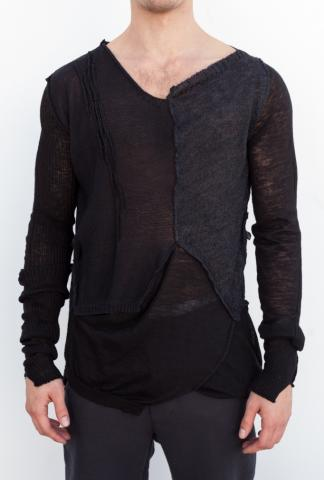 Giovanni Cavagna Deconstructed Knitted Sweater