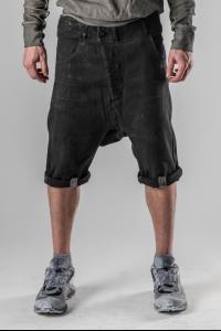 Boris Bidjan Saberi P16 Metal Clasp Vinyl Coated Jeans Shorts