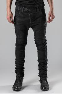 Boris Bidjan Saberi Hand-stitched Vinyl Coated Body Molded P13TF Jeans