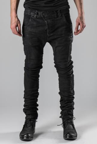 Boris Bidjan Saberi Hand-stitched Vinyl Coated Body Molded P13TF Jeans